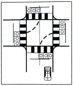 Bài 5: Qua Ngã Tư Có Tín Hiệu Điều Khiển Giao Thông - Bài Thi Sa Hình B2