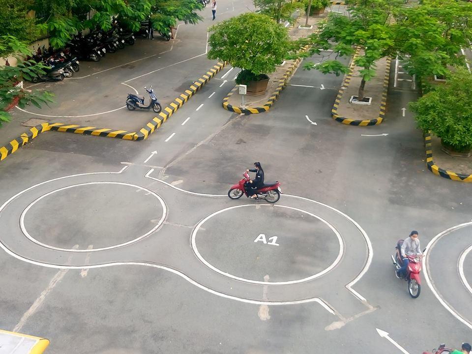 Hướng dẫn bài thi thực hành bằng lái xe máy A1