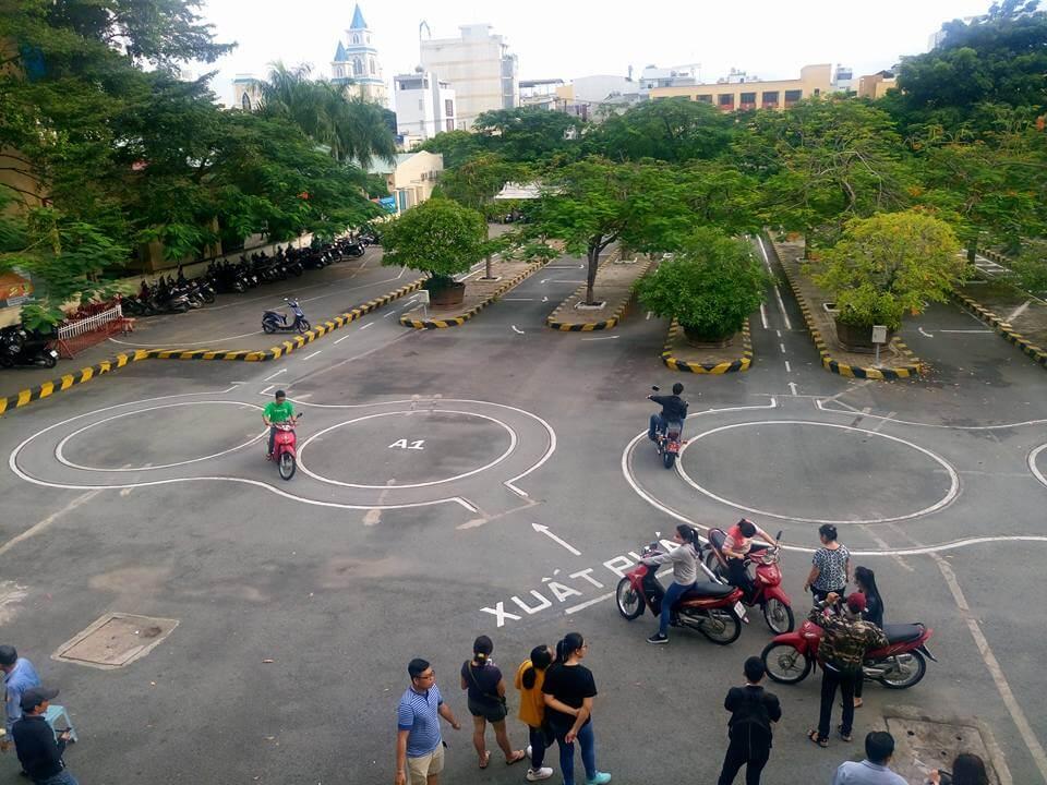 Địa điểm thi bằng lái xe máy A1 tại TPHCM