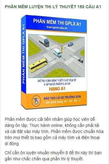 Tham khảo ngay đề thi bằng lái xe máy A1 Online