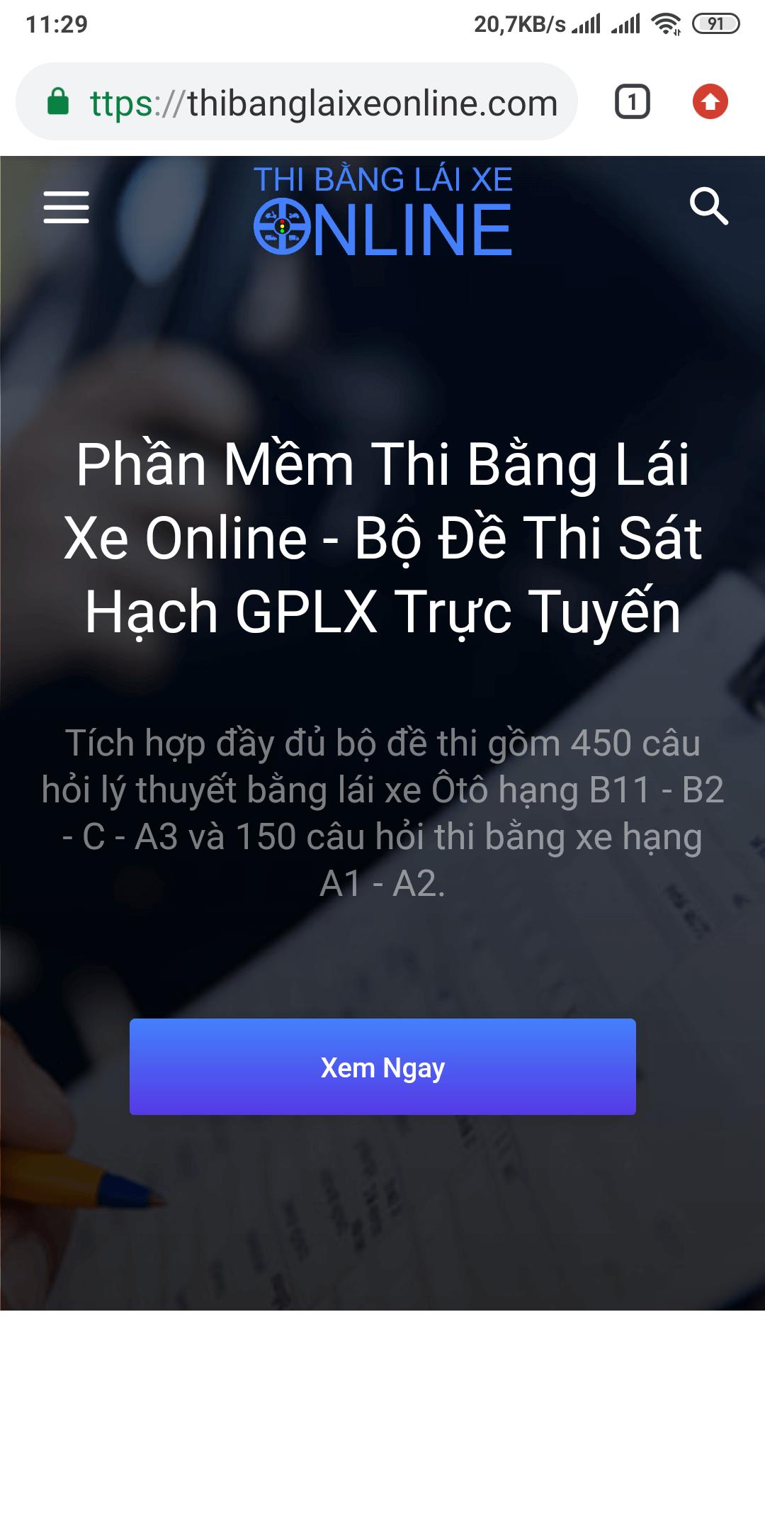 Phần mềm thi bằng lái xe máy Online tốt nhất hiện nay