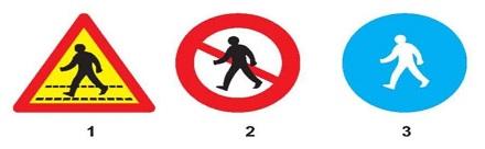 Gặp biển nào người lái xe phải nhường đường cho người đi bộ?
