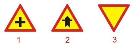 Biển nào báo hiệu giao nhau với đường không ưu tiên?