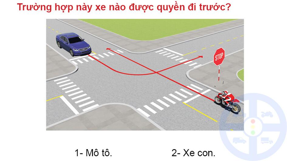 Trường hợp này xe nào được quyền đi trước?