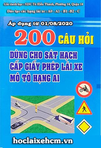 200 câu hỏi thi bằng lái xe máy a1 2020