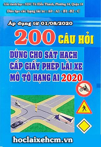 Phần mềm 200 câu hỏi thi bằng lái A1